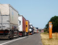 Truck Traffic Congestion France Royalty Free Stock Photo