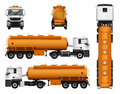 Truck trailer vector template. Fuel gas tanker. car on white background.