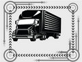 Truck transport icon Stock Image