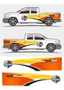 Truck and vehicle decal Graphics Kits design Royalty Free Stock Photo