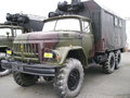Truck zil military building built Stock Images