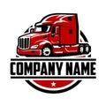 Trucking company ready made logo set template Royalty Free Stock Photo