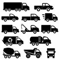 Trucks icon set Stock Image