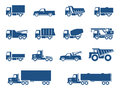 Trucks icons set Stock Photography