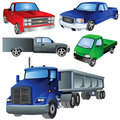 Trucks Ikon Set Stock Images