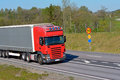 Trucks on the road at highway Royalty Free Stock Image
