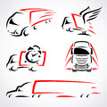 Trucks set vector illustration this is file of eps format Stock Photography