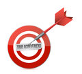 True achievement target dart illustration design over a white background Stock Image