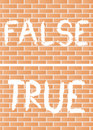 True and false Royalty Free Stock Photography