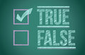 True and false check box Stock Photo