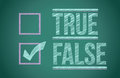 True and false check box Stock Photography