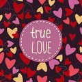 True love background whith hearts. Royalty Free Stock Image