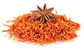 Truestar anisetree on saffron Royalty Free Stock Image