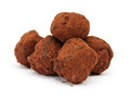 Trufas de chocolate Fotografia de Stock Royalty Free