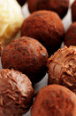 Trufas de chocolate Fotos de Stock Royalty Free