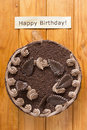 Truffle cake for birthday Royalty Free Stock Photo