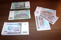 Trukmenistan Currency Royalty Free Stock Photo