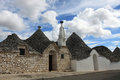 Trulli houses in town of alberobello puglia italy Royalty Free Stock Images