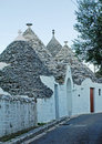 Trulli pretty white in alberobello Royalty Free Stock Image