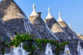 Trulli roofs in alberobello italy southern unesco world heritage site Royalty Free Stock Image