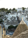 Trulli roofs of trullos in alberobello Royalty Free Stock Photography