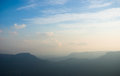 Truly the blue mountains hazy landscape in near katoomba nsw australia Royalty Free Stock Images