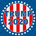 Trump 2020 Republican Candidate For President Nomination - 2d Illustration
