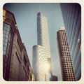 Trump tower hotel and condominium in chicago Royalty Free Stock Photography