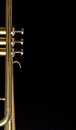 Trumpet background Stock Photo