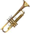Trumpet cutout Royalty Free Stock Photo