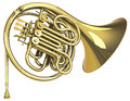 The trumpet d generated picture of a golden Royalty Free Stock Photos