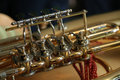 Trumpet detail Royalty Free Stock Photo