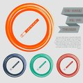 Trumpet icon on the red, blue, green, orange buttons for your website and design with space text.