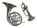 Trumpet the image of under the white background Stock Images