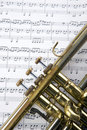 Trumpet and notes Royalty Free Stock Photo