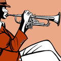 Trumpet player vector illustration of a Stock Photo