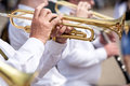Trumpet players Royalty Free Stock Photo
