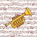 Trumpet toy. Toy.