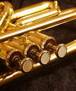 Trumpet valves Royalty Free Stock Photos