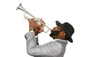 Trumpeter performing. Royalty Free Stock Photo