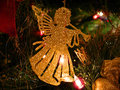 Trumpeting angel Christmas decoration Royalty Free Stock Photo