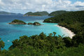Trunk bay beach at st john island in american virgin islands Royalty Free Stock Photos