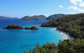 Trunk bay in st john u s virgin islands Royalty Free Stock Image