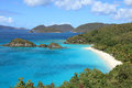 Trunk bay in st john u s virgin islands Royalty Free Stock Images