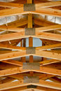 Truss detail roof system from below Royalty Free Stock Photography