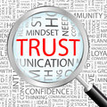Trust concept illustration graphic tag collection wordcloud collage Stock Images