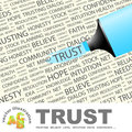 Trust concept illustration graphic tag collection wordcloud collage Stock Image