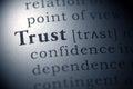 Photo : Trust   holding