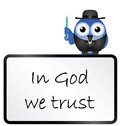 Trust in the Lord message Royalty Free Stock Images