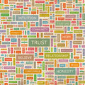 Trust seamless pattern concept related words in tag cloud conceptual info text graphic word collage Stock Images